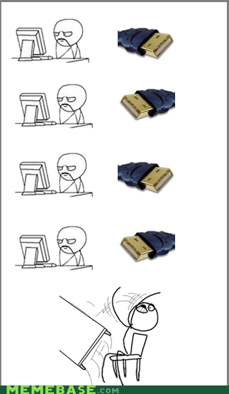 computers Rage Comics table flip USB