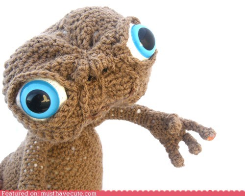 alien Amigurumi Crocheted ET Movie - 6351586048