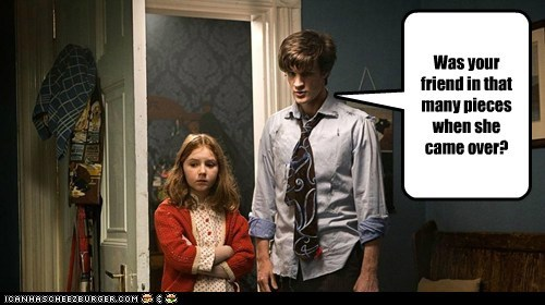 amy pond are you sure doctor who friend Matt Smith pieces question the doctor - 6351596032