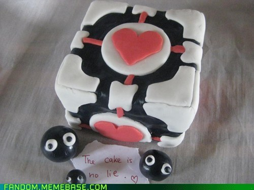 companion cube,Fan Art,noms,Portal,video games