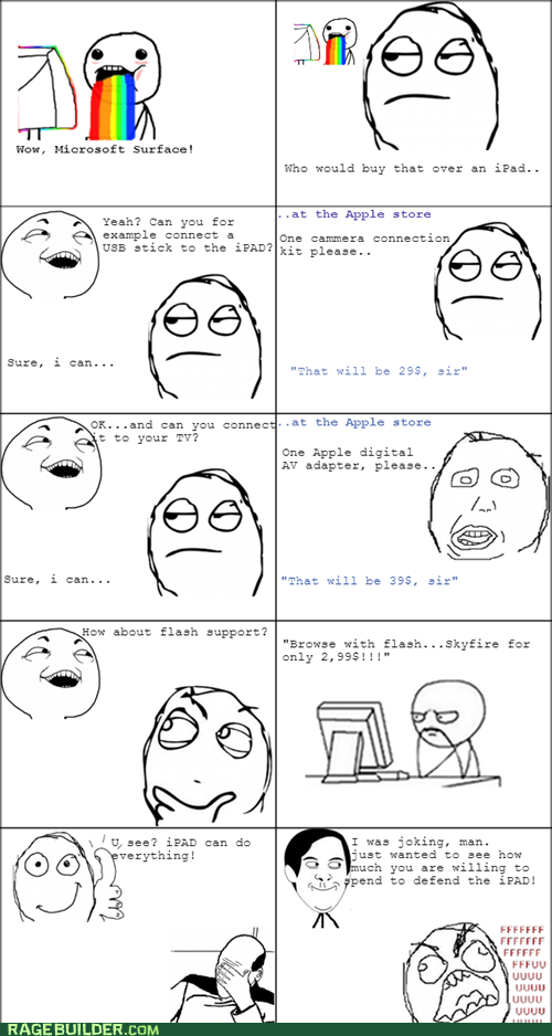 ipad,microsoft surface,puking rainbows,Rage Comics,technology