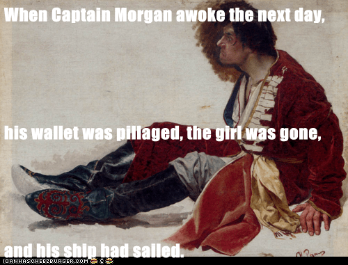 angy captain morgan jilted