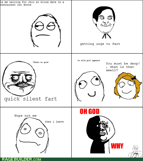 blind date,farts,oh god why,Rage Comics,relationships