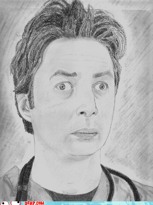 derp,drawing,scrubs,Zach Braff