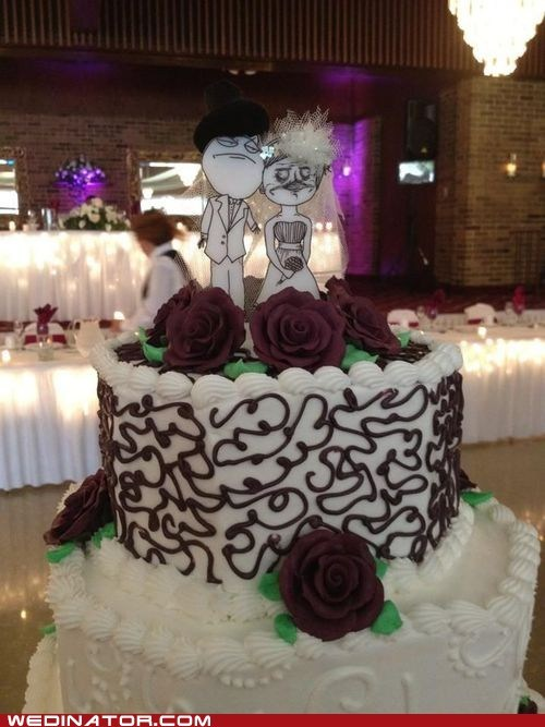 cake toppers funny wedding photos Memes rage faces - 6352175872