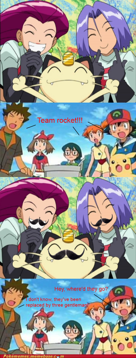 anime comic disguise mustache Team Rocket - 6352232704