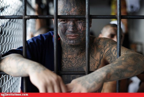 body tattoos,face tattoos,prison tattoos