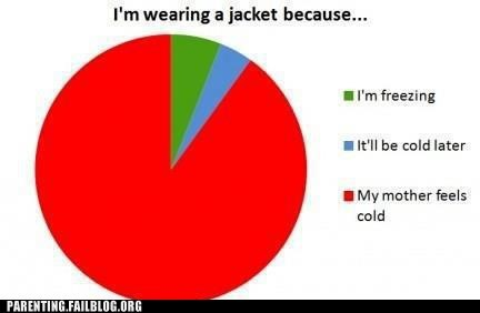 cold,jacket,mom,Pie Chart