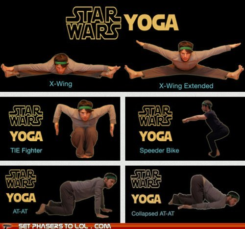 at at,best of the week,collapsed,Hoth,poses,speeder bike,star wars,tie fighter,vehicles,x wing,yoga