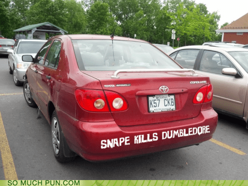 car,double meaning,dumbledore,Hall of Fame,Harry Potter,kills,literalism,snape,spoiler