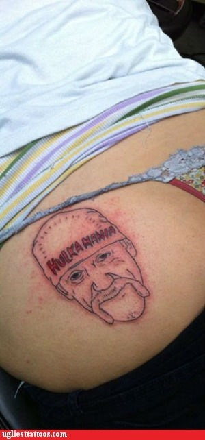 ass tattoos g rated Hulk Hogan Ugliest Tattoos wrestling wwe wwf - 6352438528