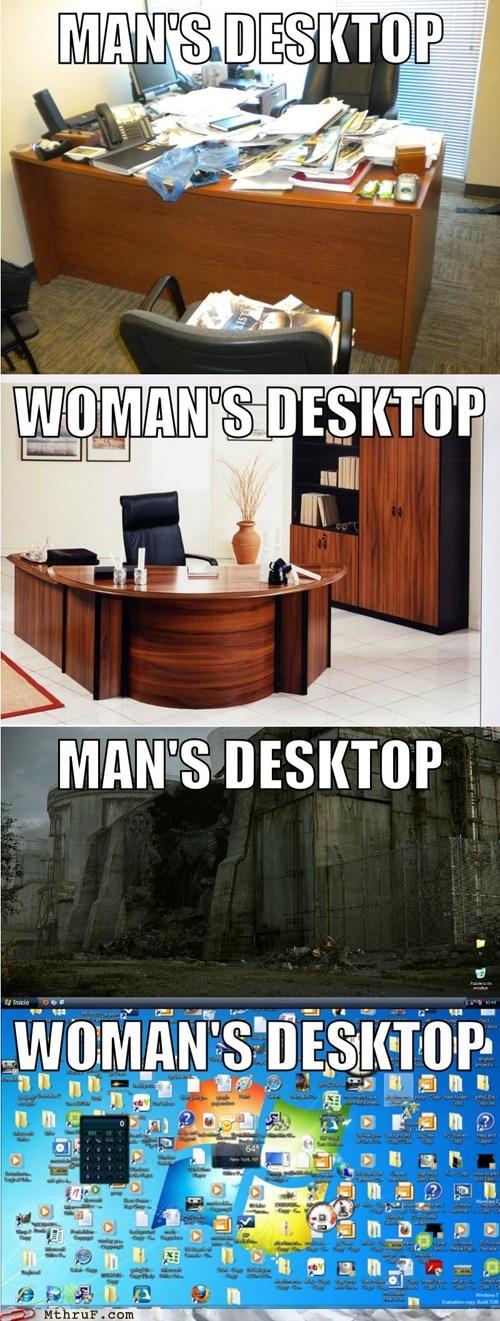 clutter desk desktop Hall of Fame mans-desktop womans-desktop - 6352478464