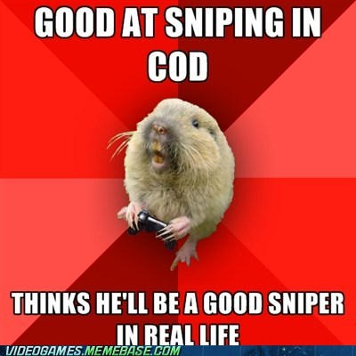 call of duty gaming gopher meme sniper - 6352503296