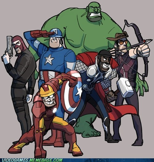 crossover,hulk,smash,Team Fortress 2,The Avengers