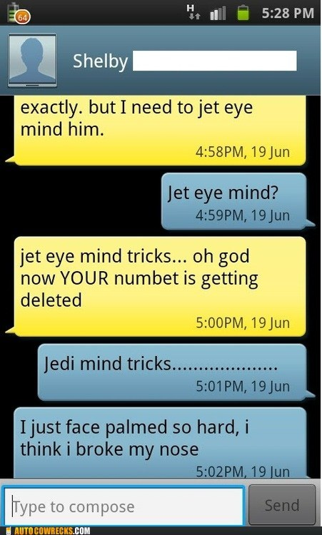 face palmed jedi mind trick Jet Eye Mind Trick star wars - 6352793088