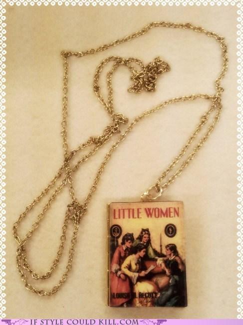 books cool accessories literature little women necklaces novels - 6352805376