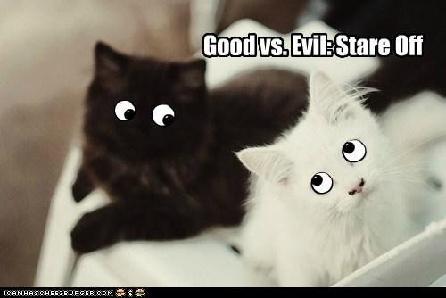 Good vs. Evil: Stare Off