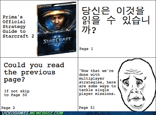 Multiplayer,ok,rage comic,single player,starcraft 2,strategy guide