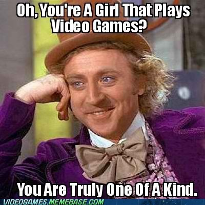 boys,condescending wonka,girl gamers,meme