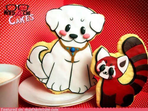 cookies,dogs,epicute,icing,red panda