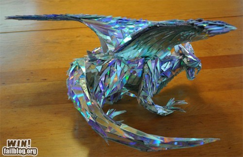 art CD dragon nerdgasm sculpture