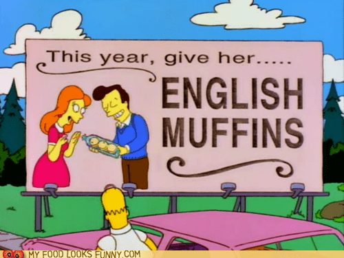 billboard,english muffins,romance,simpsons