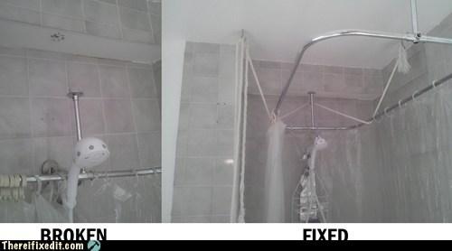 broken shower shower shower curtain shower frame showerhead - 6353280256