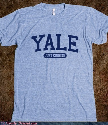 college shirt whoops Yale