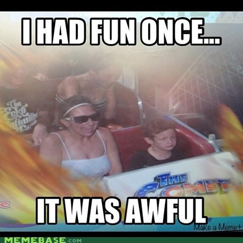 awful charmanda fear fun Memes roller coaster - 6353795072