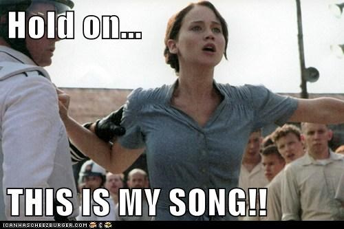 hold on,hunger games,jennifer lawrence,katniss everdeen,my song,party in the usa