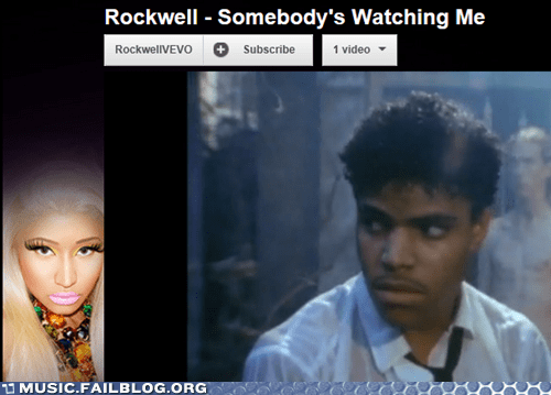 Ad,nicki minaj,rockwell,somebodys-watching-me,vevo,youtube