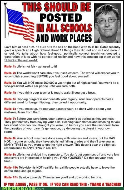 Bill Gates facts rules teacher Text Stuffs