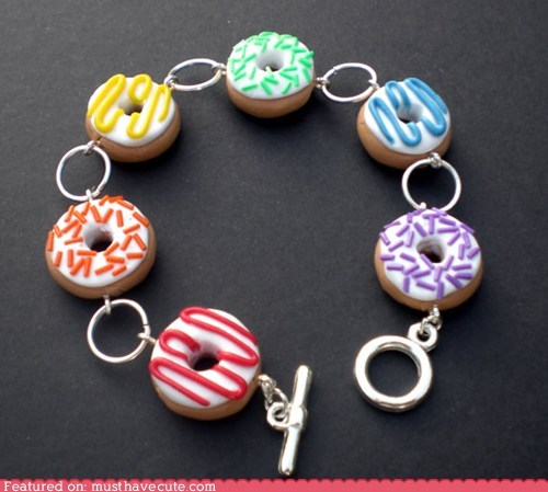 bracelet donuts Jewelry rainbow sweets - 6354263808