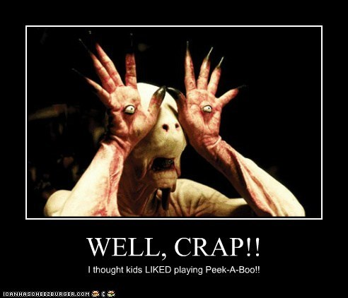 crap eyes hands monster pans-labyrinth peek a boo scared - 6354331904