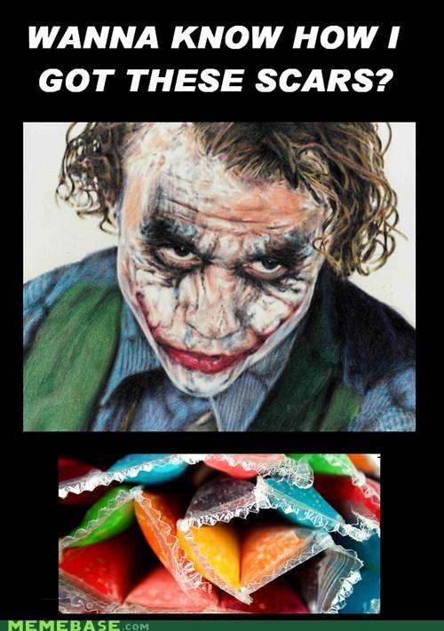 batman joker Memes otter pops popsicles scars - 6354342400