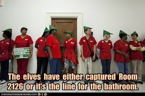 The elves have either captured Room 2126 or it's the line for the bathroom.