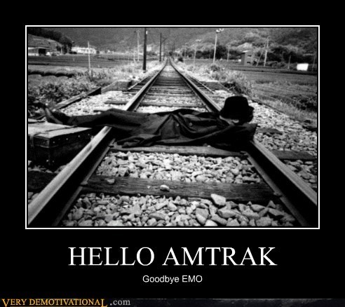amtrak emo goodbye hilarious