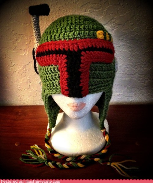 boba fett hat helmet Knitted star wars wool - 6354734848