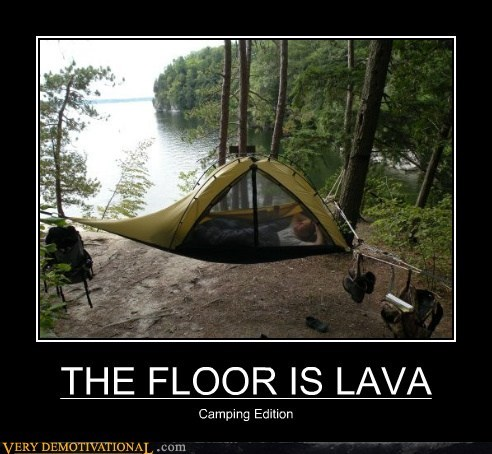 THE FLOOR IS LAVA Camping Edition