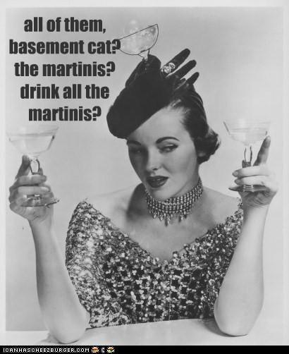 booze ceiling cat glasses martinis - 6355521280