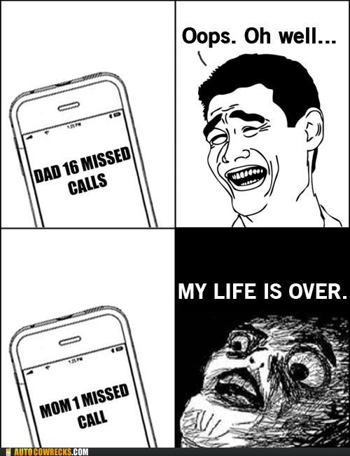 life is over missed calls mom vs dad - 6355622656