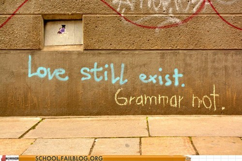 dating,graffiti,grammar not,love still exist,vandalism