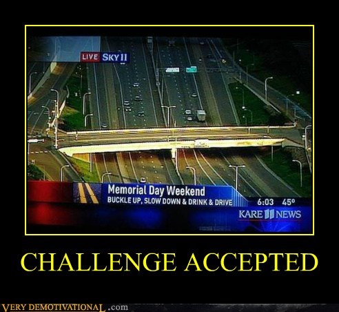 cars Challenge Accepted drinking driving hilarious - 6355857664