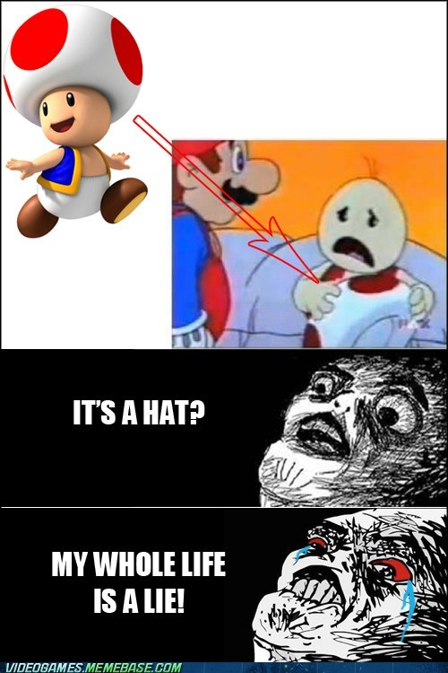 hat,lie,mario,toad,wtf