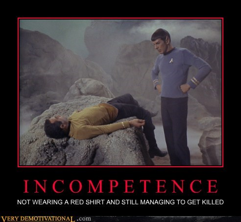 hilarious incompetence Spock Star Trek - 6355941120