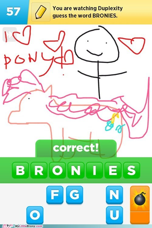 Bronies,draw something,drawing,game,IRL,word