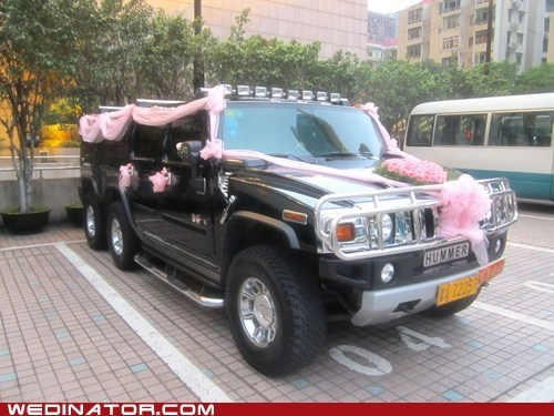 cars,funny wedding photos,hummer,hum-vee