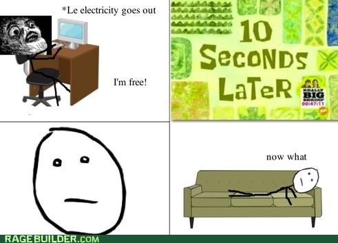 electricity,internet,poker face,Rage Comics