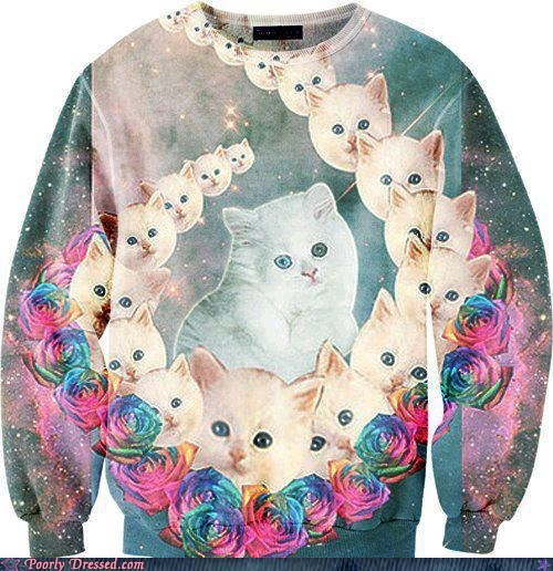 best of week Cats g rated Hall of Fame ironic poorly dressed space sweater ugly - 6356203264