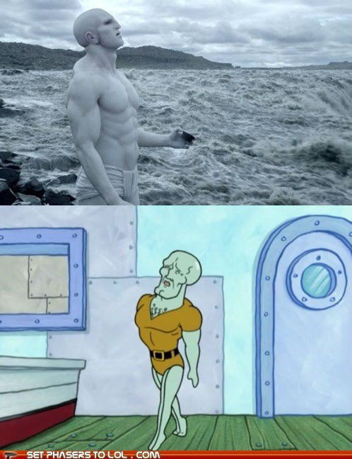 Aliens,buff,engineers,handsome,prometheus,SpongeBob SquarePants,squidward,totally looks like